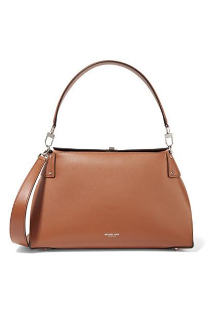 Michael Kors Collection - Miranda Leather Shoulder Bag - Tan