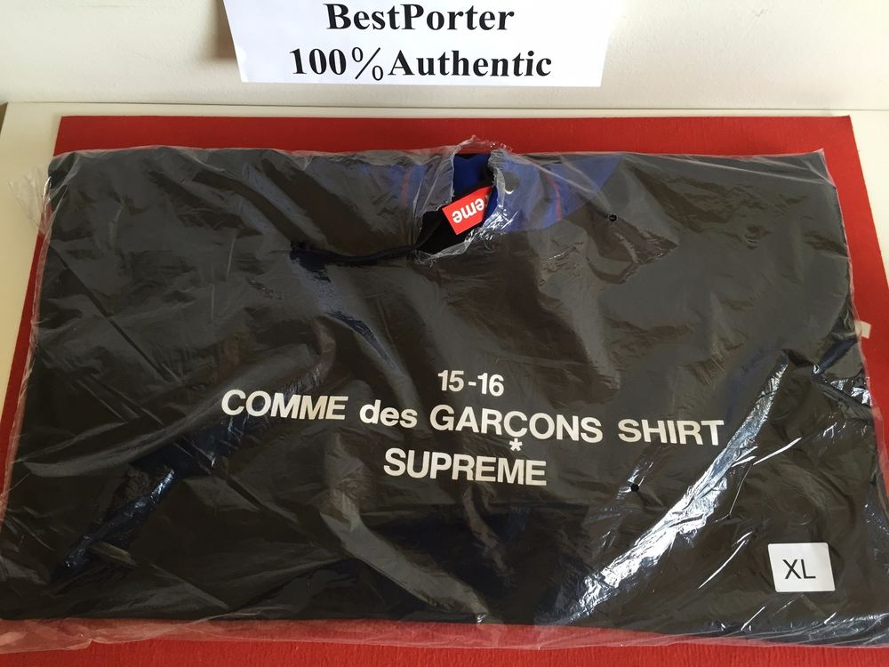 43118126bd91 supreme comme des garcons shirt hoodie black blue f w 2015 cdg ...