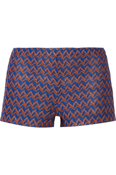 Missoni shorts knit crochet blue royal blue