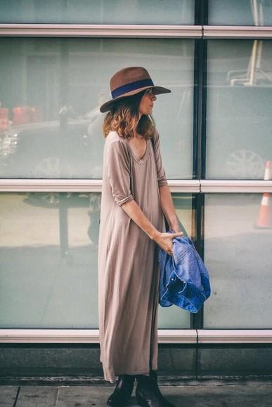 dress nude boho dress