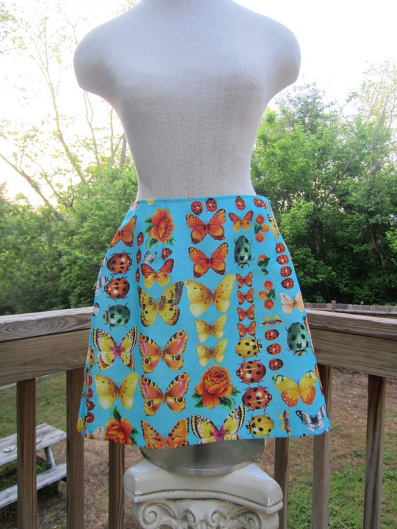Vintage 90's xoxo turquoise bug and butterfly by tigermountain