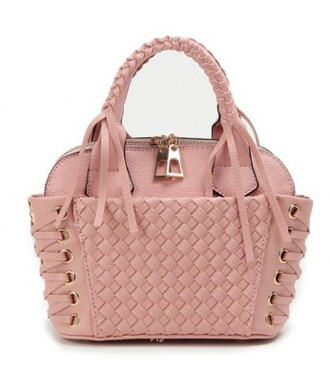 bag lace up pastel it girl shop pink bag leather bag girly pastel bag