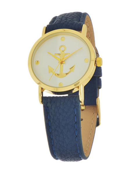 navy jewels preppy jewelry anchor watch