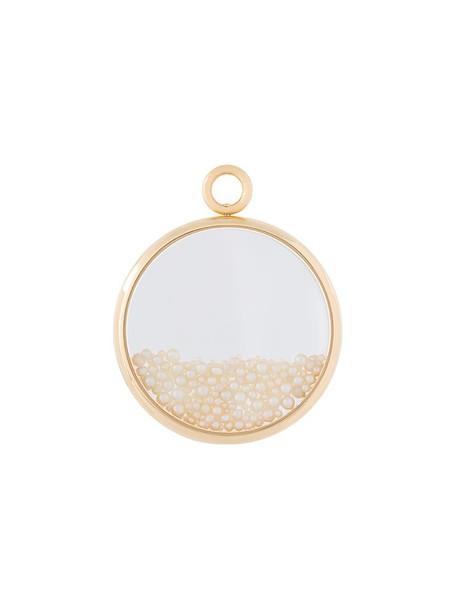 AURELIE BIDERMANN women pearl pendant gold yellow grey metallic jewels