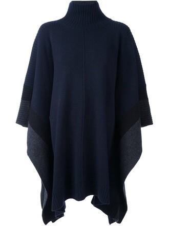 poncho blue top