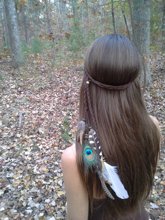 hair accessory grunge hipster urban girly classy boho spring outfits feathers feather bohemian headdress headband feather hair feather headband pocahontas native american festival coachella indian