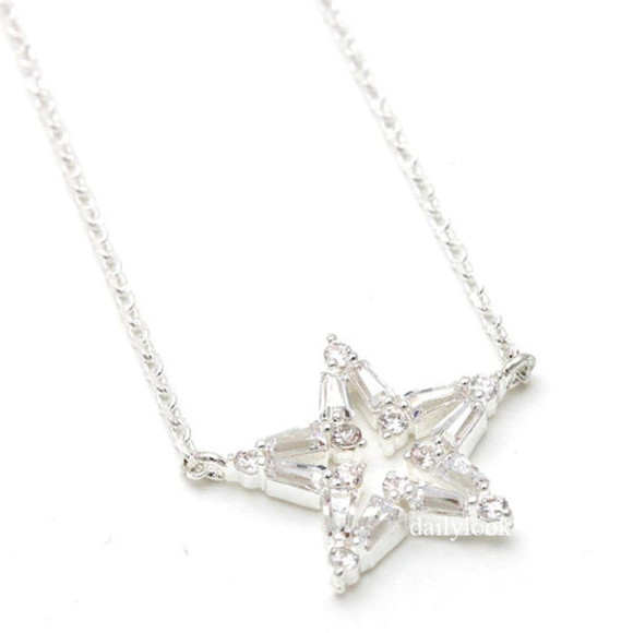 jewels star star necklace twinkle woman necklace girls necklace bridesmaid necklace twinkle star christmas necklace