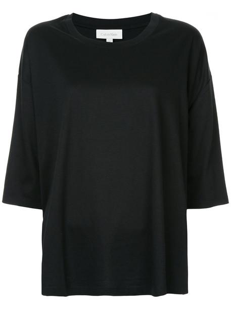 Ck Calvin Klein t-shirt shirt t-shirt loose women fit cotton black top