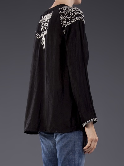 Johnny Was Embroidered Blouse - Peacock Boutique - Farfetch.com