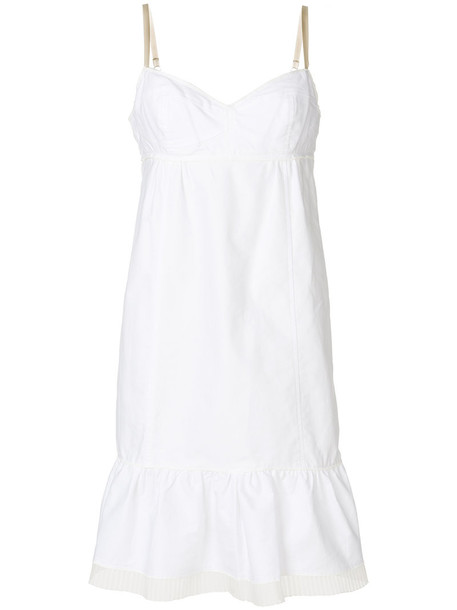 dress women white cotton silk