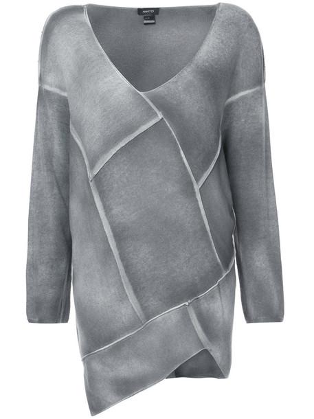 AVANT TOI jumper patchwork women silk grey sweater