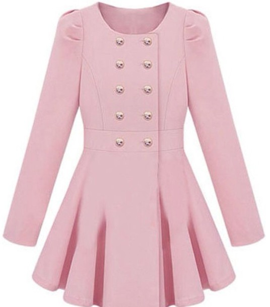 coat ineedinmylif3 trench coat pink fashion