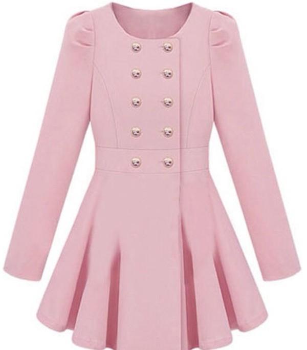 coat ineedinmylif3 trench coat pink fashion