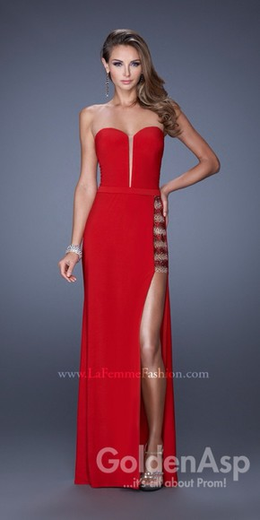 gown la femme 19786 military ball red dress military ball dress