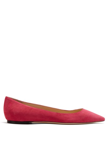Jimmy Choo flats suede pink shoes