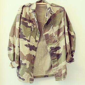 jacket militar military style camouflage denim crop cropped