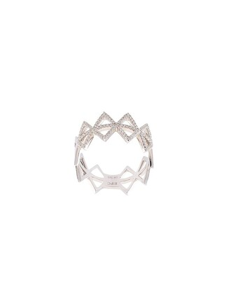 triangle ring grey jewels