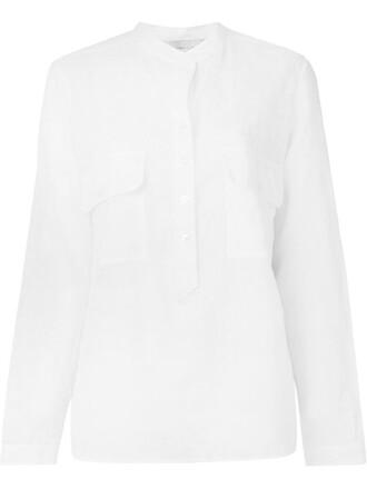 shirt floral shirt sheer floral white top