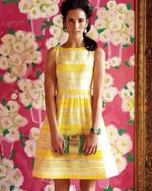 dress,lily,yellow,fancy,lily pulitzer,yellow dress,stripes,striped dress