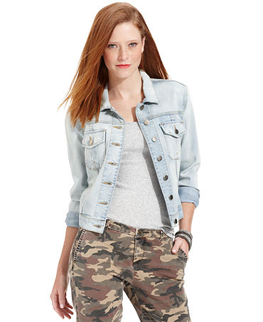 Kut from the Kloth Jacket, Denim, Sweet Wash - Jackets & Blazers - Women - Macy's