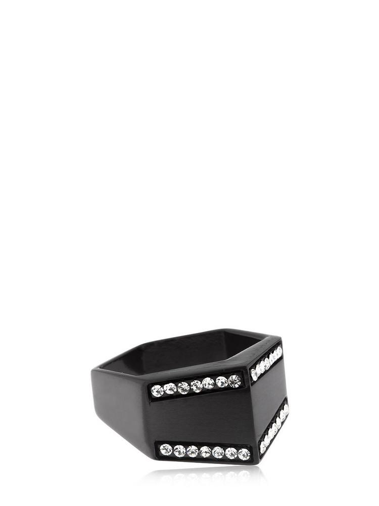 FEDERICA TOSI Home Satin Ring in black