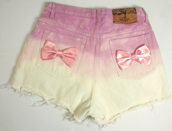 Vintage HIGH WAISTED denim SHORTS handmade by mintlondonboutique
