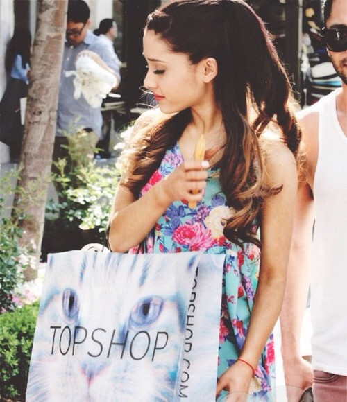 dress top shop ariana grande summer dress outfit, prom, highheels, skirt, purse, glitter, gold, blonde,