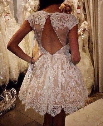 dress clothes wedding clothes lace dress cute dress lace white lace dress white dress little white dress summer dress crochet