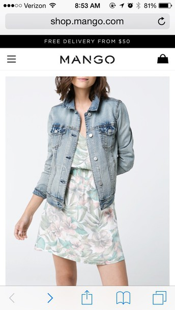 coat blue jean jacket