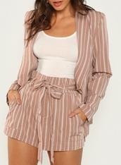 shorts,girly,girl,girly wishlist,two-piece,blazer,short,matching set,cute,cute outfits,muave