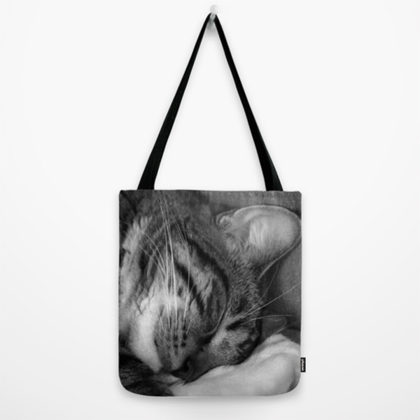 bag cats cats tote bag black and white
