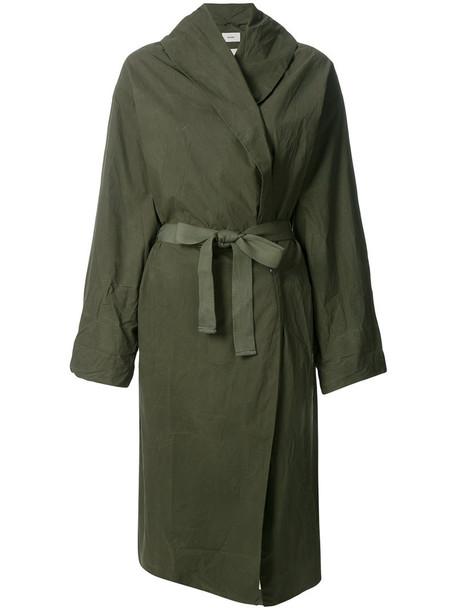 humanoid coat women cotton green