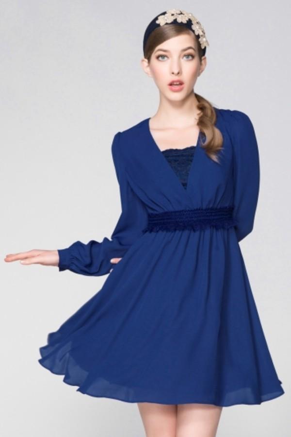dress lace lace dress blue lace dress blue short dress persunmall persunmall dress