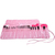24 pcs Makeup Brush Kit with Pink Case - Sheinside.com