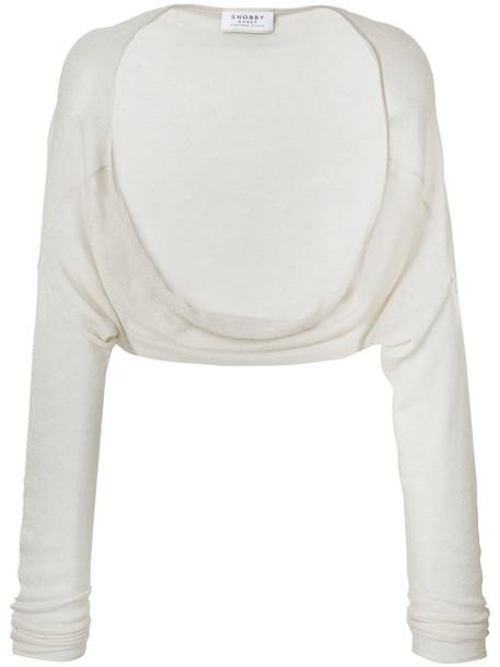 Snobby Sheep cardigan cardigan cropped women nude silk sweater