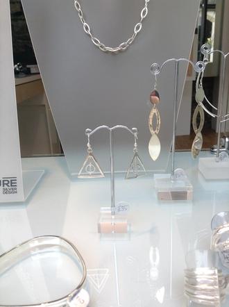 jewels harry potter silver earings jewelery