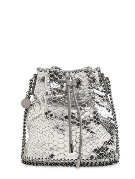metallic bag bucket bag silver