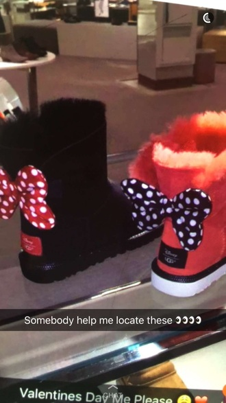 shoes red black boot ugg boots