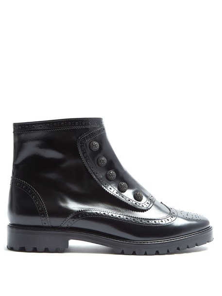 RUE ST. leather ankle boots street ankle boots leather black shoes