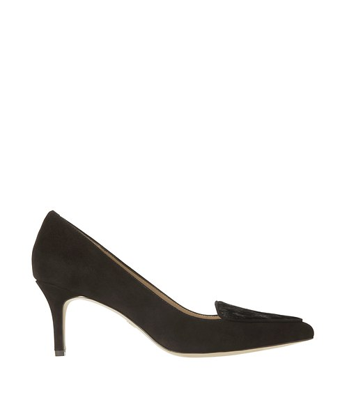 Adrian Suede and Haircalf Kitten Heels | Ann Taylor