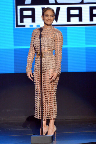 dress mesh dress mesh nude nude dress see through dress jennifer lopez pumps amas 2015