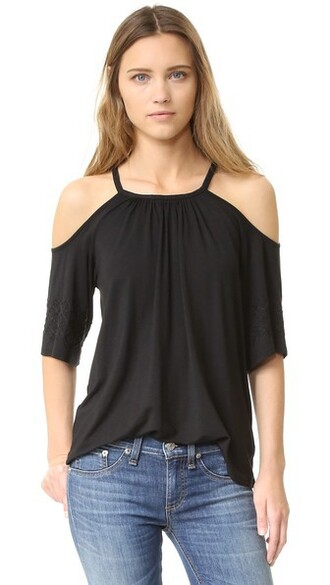 blouse black top