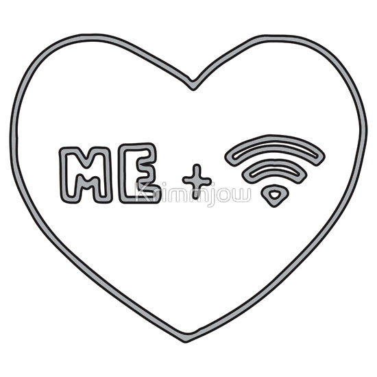 """Me   Wifi <3"" T-Shirts & Hoodies by Krimmjow 