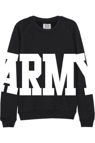 sweater bts army sweater k-pop black sweater printed sweater
