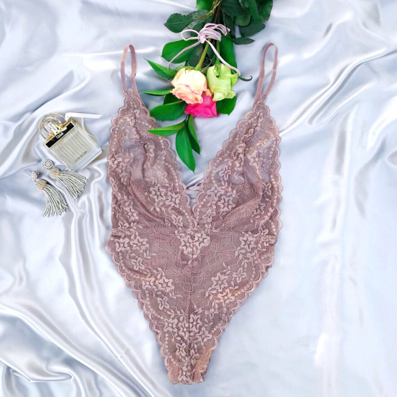 Floral Lace Up Bodysuit, Spaghetti Strap Lace Bodysuit, adjustable straps, lace bodysuit