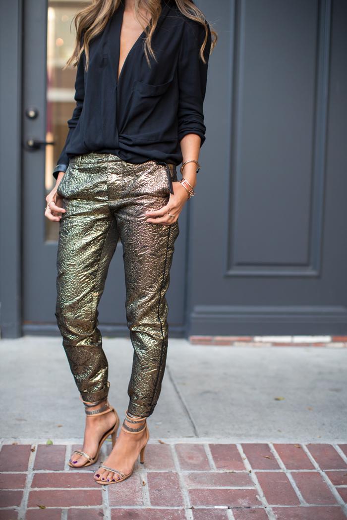 Shimmy shimmy gold pants