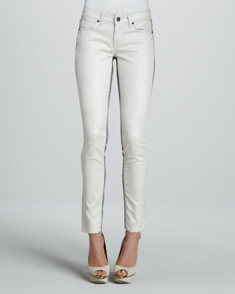 Rich and Skinny | Split Skinny Jeans, Oyster - CUSP