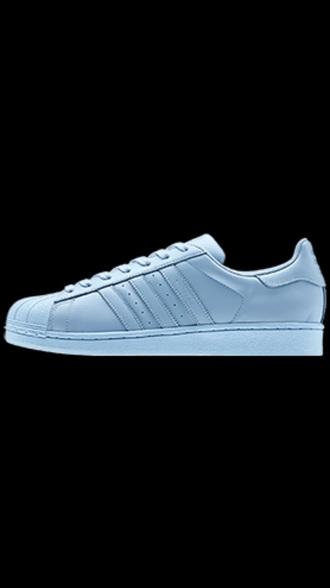 baby blue adidas superstar pastel sneakers