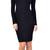 Gianna Mock Neck Midi Dress | Emprada