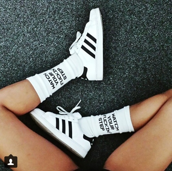 shoes adidas socks adidas originals sneacker black and white dress